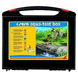 sera Aqua-Test Box, 10 verschiedene Wassertests pH, GH, KH, NH3/NH4, NO2, NO3, PO4, Fe