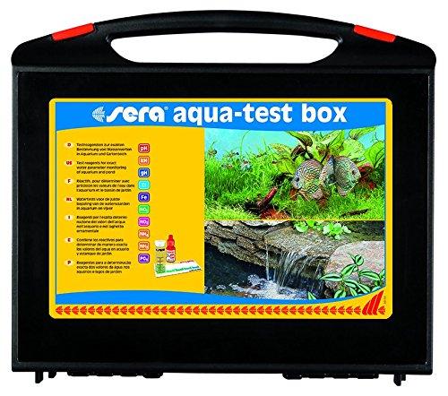 sera 04003 aqua-test box (+Cl) - Wasser testen für Fortgeschrittene pH, GH, KH, NH3/NH4, NO2,NO3, PO4, Fe und Cl - schnell, genau, professionell