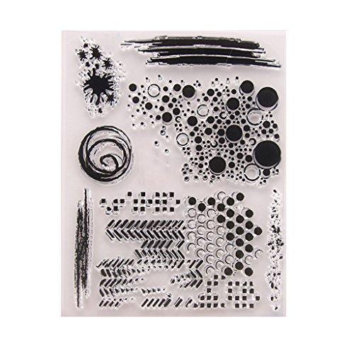 Manman Stempel Für Kartenherstellung, Transparent Stempel Silikon Siegelblatt Für DIY Sammelalbum Handwerk Karte Album T1336,