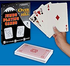 Magique Novelties Over The Hill - Playing Cards - Jumbo Size, Approx. 7x5 Inches