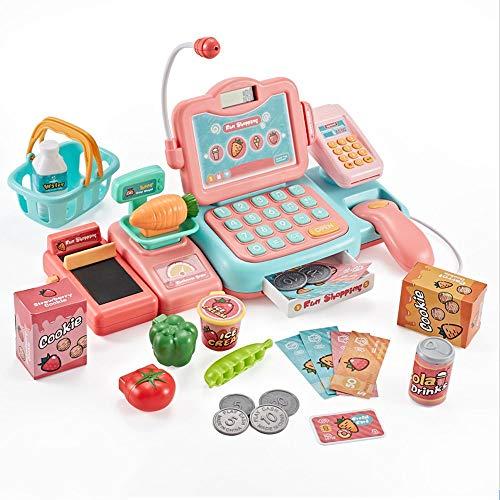 KaiWenLi Simulation enfants Caisse enregistreuse Jouet Puzzle Multifonctionnel Costume Jouet 3-6 ans Enfant Garçon Fille de rôle jouets Nouvel An cadeau de Noël Jouets éducatifs (Color : Rose)