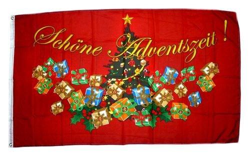 Fahne/Flagge Schöne Adventszeit Weihnachten Advent 90 x 150 cm