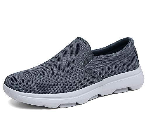 TIOSEBON Men's Slip On Loafers Comfort Walking Shoes Driving Sneakers 10.5 US Deep Gray
