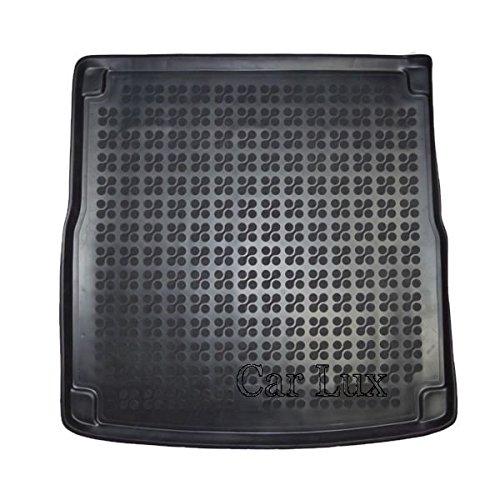 Car Lux AR02053 - Alfombra Cubeta Protector Cubre Maletero de Goma y Enrollable Premium para A4 Avant B8 Desde 2007-
