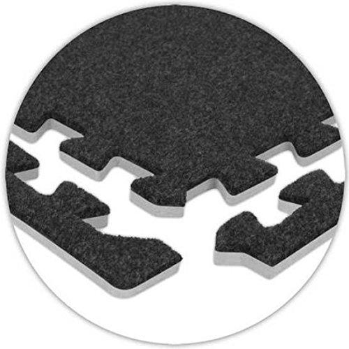 OLPRO Teppich-Fliesenkanten, aufgeschäumt, Grau, 8 Stück