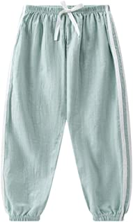 PURMUME Baby Long Bloomers Slub Cotton Casual Pants Trousers for Boys Girls 18M-8T