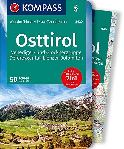 KOMPASS Wanderführer Osttirol, Venediger- und Glocknergruppe, Defereggental, Lienzer Dolomiten: Wanderführer mit Extra-Tourenkarte 1:55.000, 50 Touren, GPX-Daten zum Download