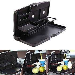 Coomir Auto Esstisch Essen Rücksitz Tablett Umklappbar Becherhalter Schreibtisch Getränke für Kinder