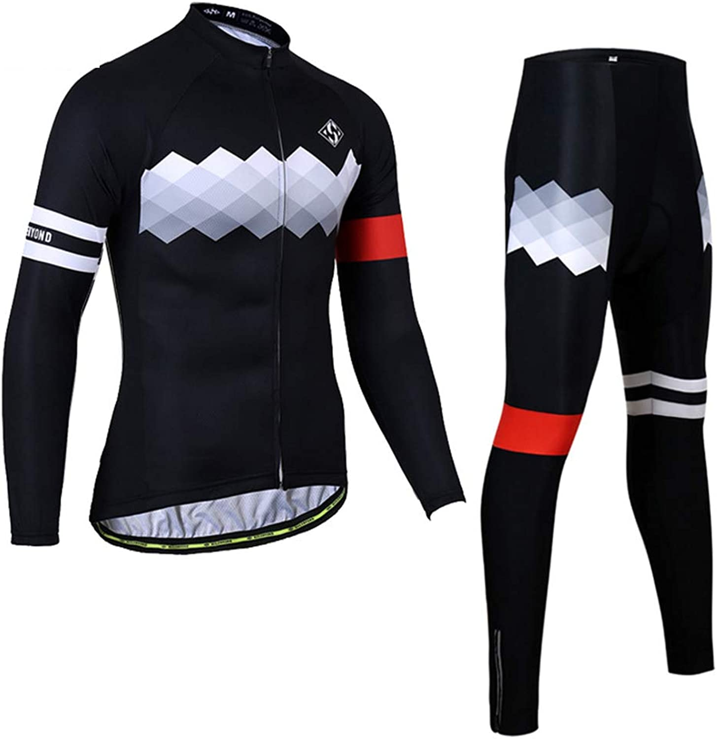 9bda7d75ca8f98 Men Cycling Clothing Sets Long Sleeve Tops Trouser Trouser Trouser  Breathable Quick Dry Casual Outdoor Sportswear Running Clothes,B,XS b35308