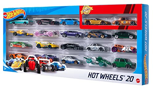 Hot Wheels - Pack De 20 Vehículos con Emb...