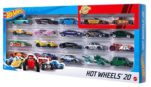 Hot Wheels - Pack De 20 Vehículos con Embalaje de Cartón, Coches de Juguete (Modelos Surtidos)...