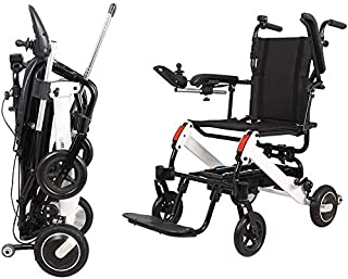 BIYADI Disabled electric wheelchairs, collapsible car Assistive dual controller Smart compact and lightweight scooter can ...