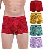 wirarpa Trunks de microfibra modal transpirable para hombre ropa interior cubierta banda Multipack, Multicolor20-4 unidades, Medium