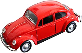 Cute Vintage Car Toy for Kids, Mini Toy Cars, Double Open Doors Pull Back & Go Car Toy, VW Beetle Pull Back Vehicles Model...