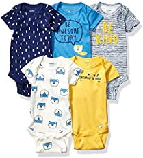 Gerber Baby Boys' 5-Pack Variety Onesies Bodysuits, Awesome Fox, 3-6 Months