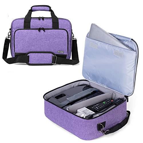Luxja Beamer Tasche mit Schutzhülle für Laptop, Projektor Tasche Kompatibel mit Acer, BenQ, Epson, Optoma und Viewsonic Beamer, 39.4 cm x 28 cm x 13.5 cm, Lila
