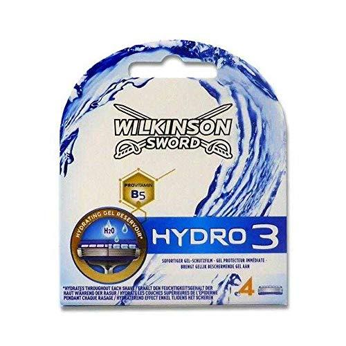 Wilkinson Sword Hydro 3 - Recambio de 4 Cuchillas de Afeitar de 3 Hojas para Hombres