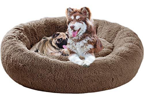 Cama para Perros tamaño Extra Grande,Camas Perros Grandes Lavable,con Forma Redonda,sponjosa,Relajante,Camas de Lujo para Perros...