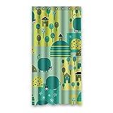 Einmal Young Cartoon Schweine Muster Custom Grau Wasserdicht Polyester-Badezimmer-Dusche Vorhang 91,4x 182,9cm (90x 183cm), Polyester, K, 36