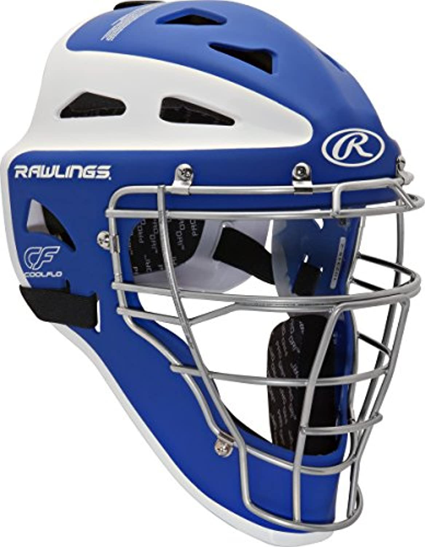 Rawlings Sporting Goods Adult Velo Series Catchers Helmet, Royal White, 7 1 87 3 4