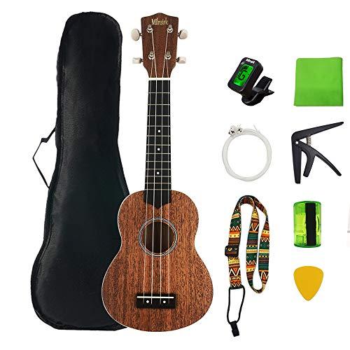 Ukelele Mahalo Soprano de 21 pulgadas, Milnsirk 9, kit de inicio para principiantes con bolsa y otros accesorios