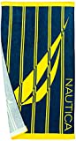 Nautica Adults Large Printed Absorbent Plush Velour 100% Cotton...