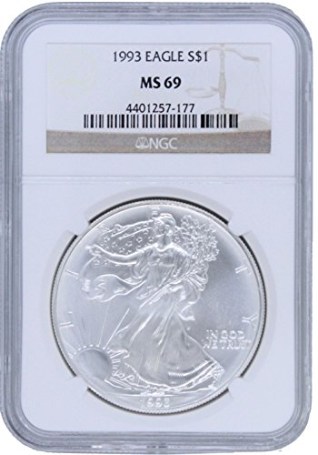 1993 American Silver Eagle $1 MS69 NGC