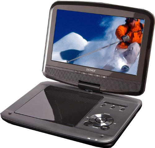 Denver MT-783NB portabler DVD-Player (17,8 cm (7 Zoll), schwenkbarer Bildschirm)