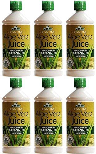 (6 PACK) - Aloe Pura - Aloe Vera Juice | 1000ml | 6 PACK BUNDLE