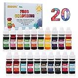 Coloranti Alimentari a 20 colori - Colorante Alimentare Liquido Concentrati per Cuocere, D...