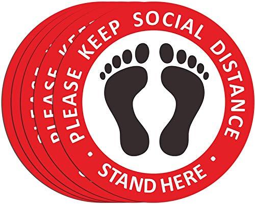 Social Distancing Floor Decals –...