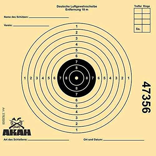 Akah Unisex– Erwachsene 37820 Luftgewehr-Scheibe, gelb, 250 Stück