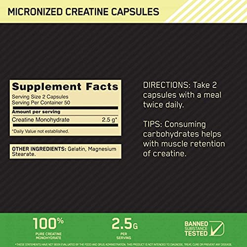 Optimum Nutrition OPTIMUM NUTRITION社 クレアチン2500 キャップス 100カプセル 海外直送品 [1332]