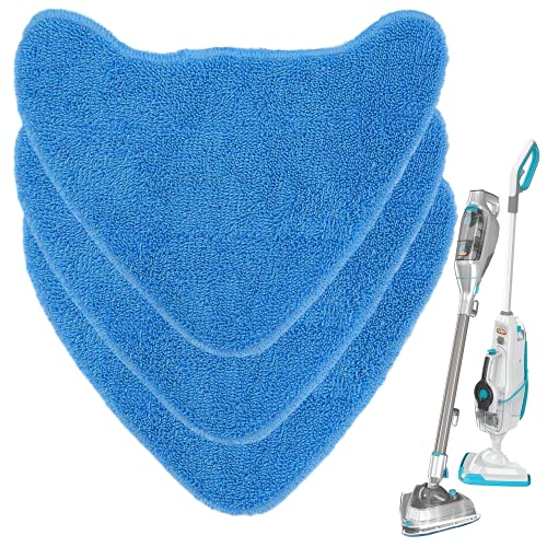 Zeltauto 3 Pack Microfiber Steam Mop Pads Replacement for Vax Steam Mops, S86-SF-CC, S85-CM and More, Type 1, Replace 1-1-131448-00