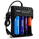 Best Vape Battery Chargers - 18650 Battery Charger for Rechargeable Li-ion Charger 4-Bay Review