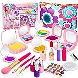Sanlebi 19PCS Faux Maquillage Enfant, Malette Maquillage Jouet Ensemble de Maquillage Beauté Cadeau pour Petite Fille 3 4 5 Ans(Pas de Vrai Maquillage)