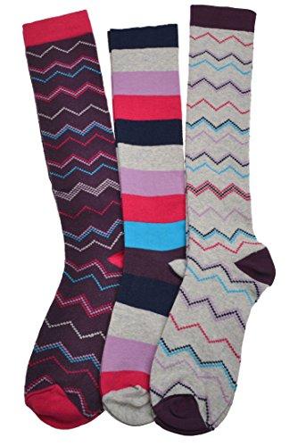 3 pares de calcetines largos para mujer
