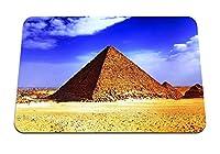 22cmx18cm マウスパッド (エジプトピラミッド砂漠砂熱太陽) パターンカスタムの マウスパッド