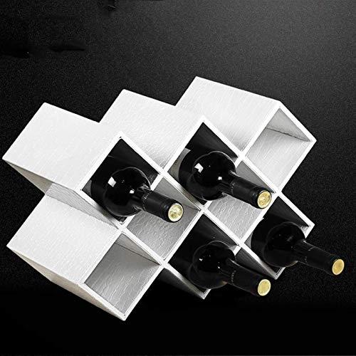 DJY-JY Estante para vino de madera de bambú con forma de encimera, soporte de almacenamiento para bodega, mesa para botellas de vino con ranuras para 8 botellas