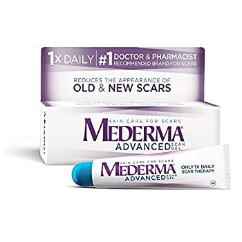 Mederma Advanced Scar Gel - 1x Daily  Use less save more - Reduces the Appearance of Old & New Scars - #1 Doctor & Pharmacist Recommended Brand for Scars - 0.7 ounce 0.7 Ounce