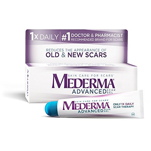 Mederma Advanced Scar Gel – 1x Daily: Use less, save more – Reduces the Appearance of Old & New Scars – #1 Doctor & Pharmacist Recommended Brand for Scars – 0.7 ounce, 0.7 Ounce