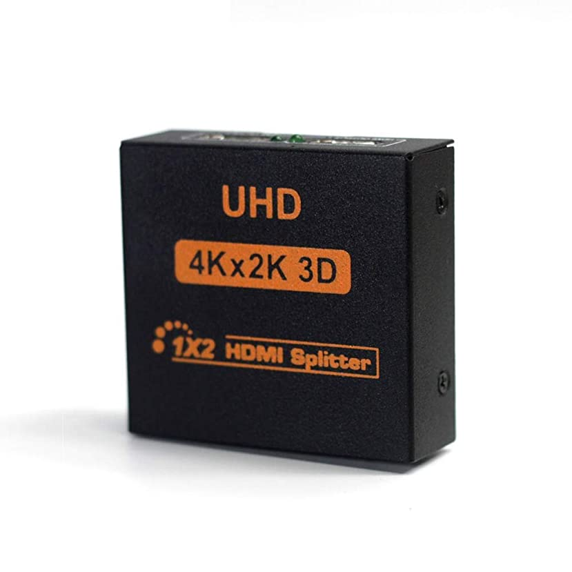 HDMI Splitter 1X2 Port 3D UHD 1080p 4K2K Video HDMI Switch Switcher HDMI 1 Input 2 Output HUB Repeater Amplifier