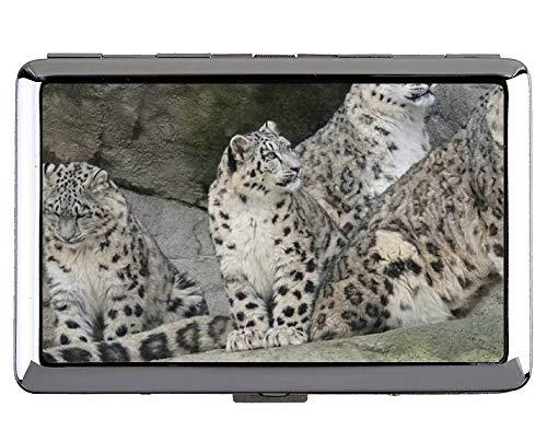 Yanteng Zoo Leopard Keep Business Cards 190618-001 - Tarjetas de Visita, Case10 (Plateado) - YT190618-1case-Q1-010