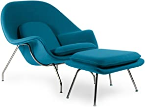 Kardiel Womb Chair & Ottoman, Caribbean Boucle Cashmere Wool