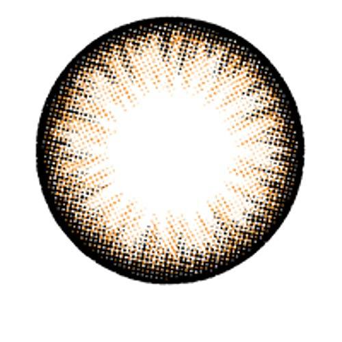 Matlens – EOS Farbige Kontaktlinsen mit Stärke choco circle lenses Big eyes ALMOND 2 Linsen 1 Kontaktlinsenbehälter 1 Pflegemittel 50ml -450