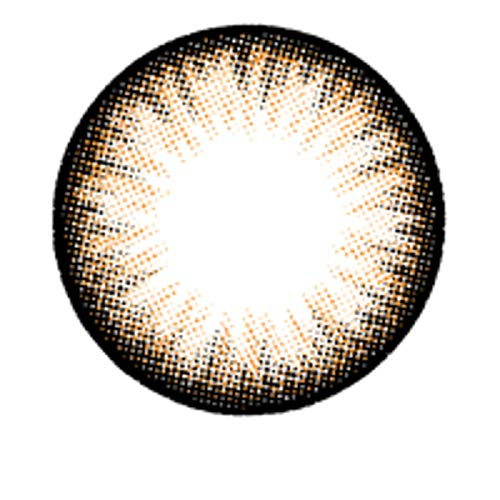Matlens – EOS Farbige Kontaktlinsen mit Stärke choco circle lenses Big eyes ALMOND 2 Linsen 1 Kontaktlinsenbehälter 1 Pflegemittel 50ml -350