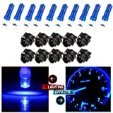 cciyu T5 17 57 37 73 74 Blue Instrument Cluster Panel Gauge Dash LED Bulb light w/Twist Sockets,10 Pack