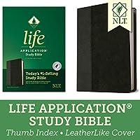 Life Application Study Bible: New Living Translation, Black & Onyx, LeatherLike