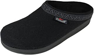 Men's Wool Clog with Poly Sole, Black