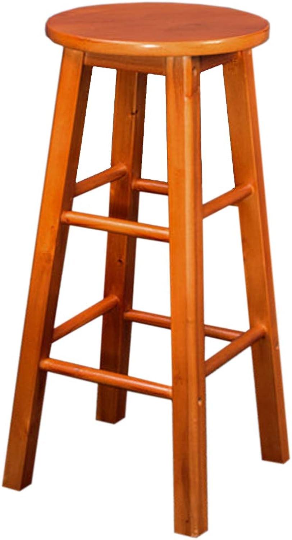 Family Breakfast Bar Stool Wooden Kitchen Seat (Sitting Height  50 60 70 80cm)